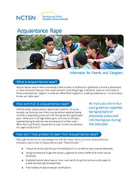 Acquaintance Rape: Information for Parents and Caregivers