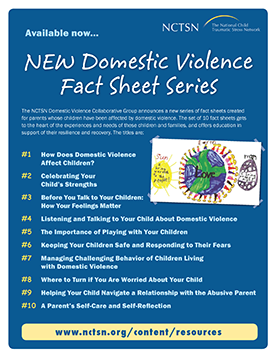 Children and Domestic Violence for Parents Fact Sheet Series