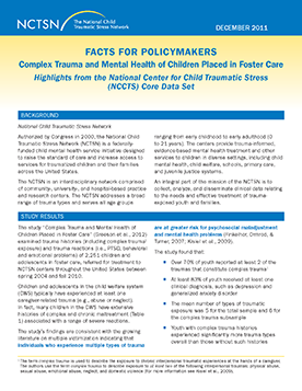 Core Data Set Policy Brief: Complex Trauma and Mental ...