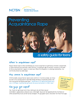 Preventing Acquaintance Rape: A Safety Guide For Teens